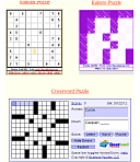 Sudoku, Kakuro and Crossword in the same page